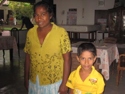KARVISHA MADURANGA AND MOTHER JAN 2016