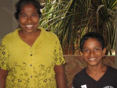KARVISHA MADURANGA AND MOTHER 2019