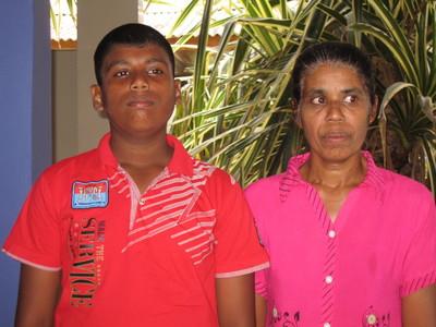 KAVINDU LAKSHAN AND MOTHER 2019