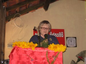 MAPALAGAMA FOUNDATION STONE ELAINE SPEECH