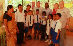 MAPALAGAMA PRE-SCHOOL VISIT OF ELAINE GRAHAM MARION AND  TERRY