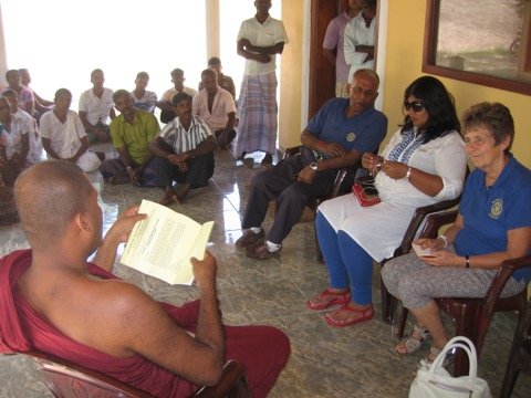 HABARANA MEETING WITH MONK